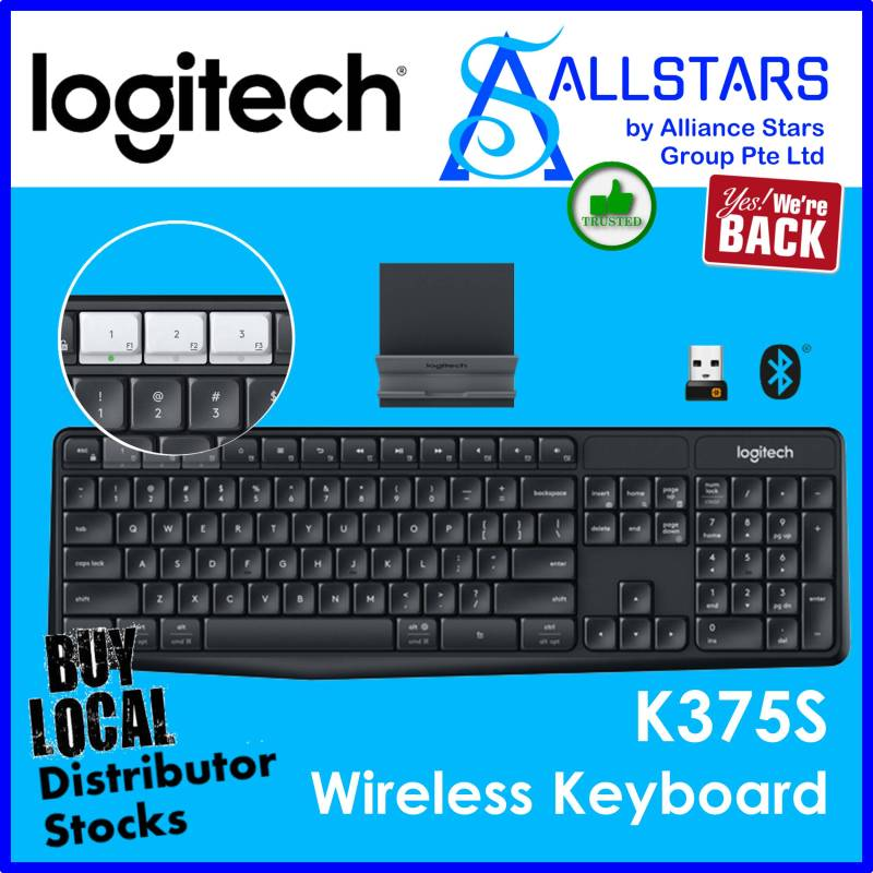 (ALLSTARS : We are Back / Keyboard Promo) Logitech K375s Multi-Device Wireless Keyboard (920-008250) Warranty 1year with Ban Leong Singapore