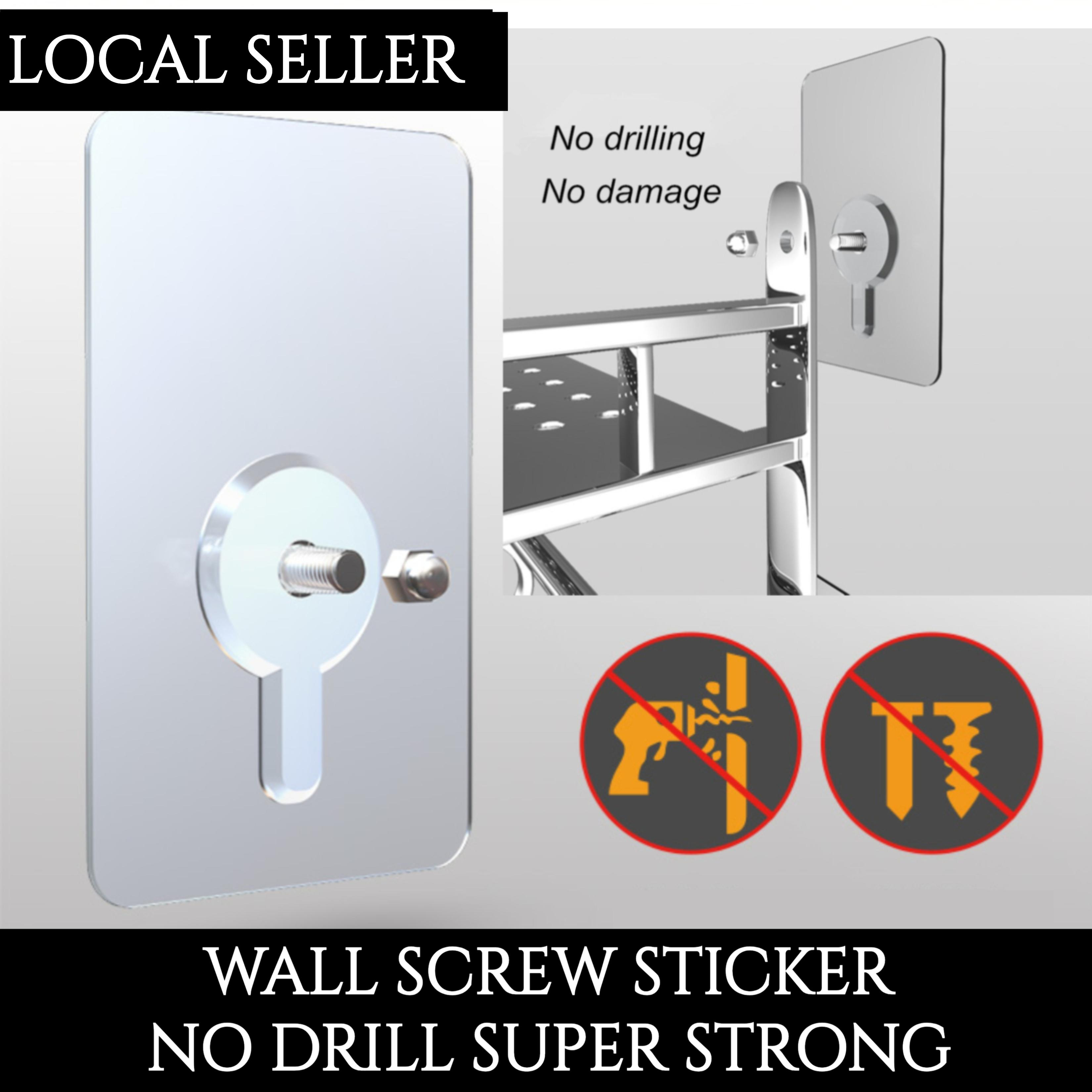 [Bundle Pack] MAGIC STICKER 2019 Latest [Thicker] Wall Screw Wall Hook Wall Mount No Drill Hook Strong Adhesive Bracket mount Bracket Screw DIY [Local Seller]