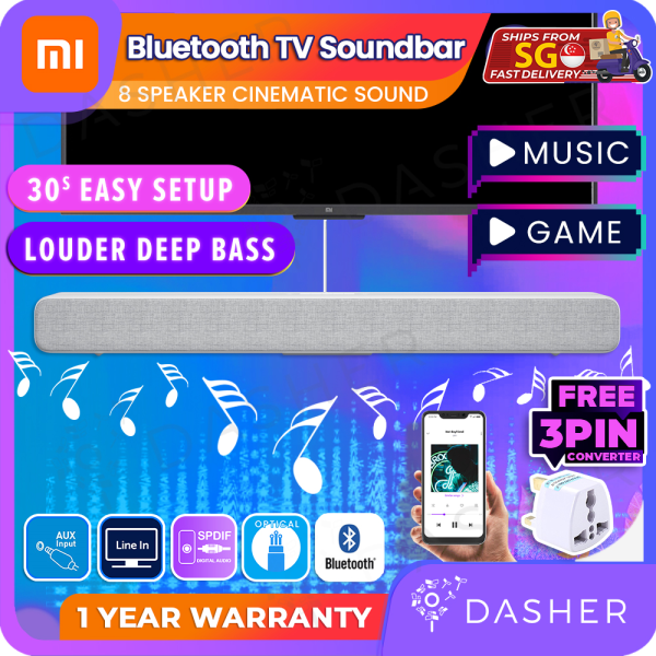 [FREE 3PINPLUG] Xiaomi Mi 33 inch Soundbar Bluetooth 4.2 Audio Speaker Sound Bar Cn Version Singapore