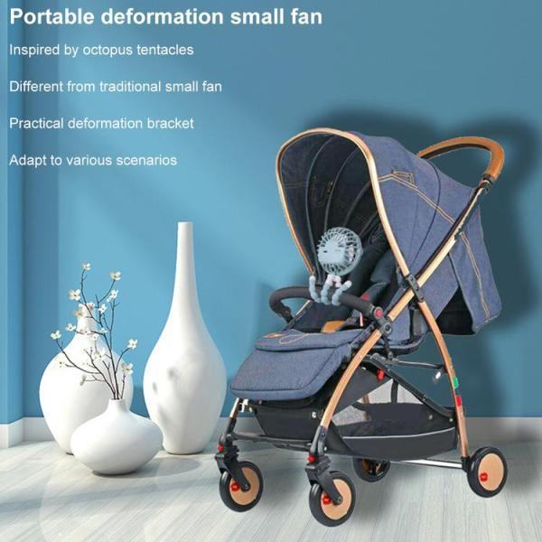 Mini Hand-held Stroller Fan USB or Battery Powered Adjustable 3 Speeds Portable Car Seat Baby Fan with Flexible Tripod Desk Fan Singapore