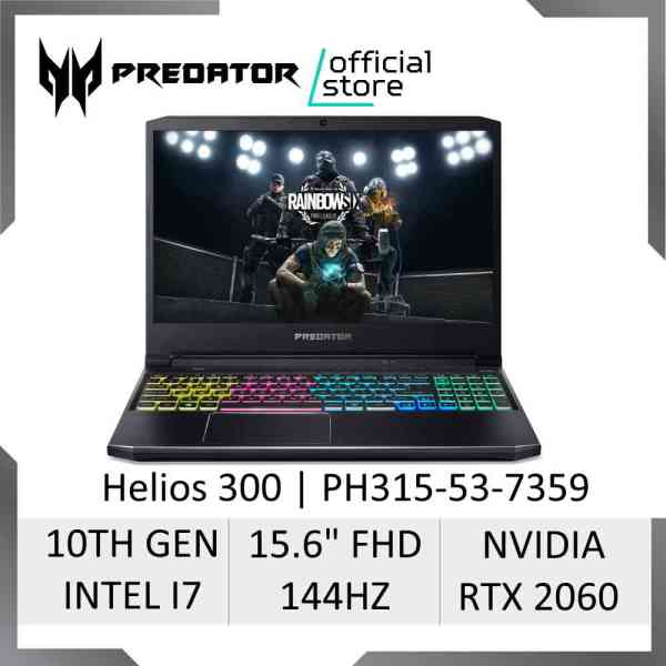 Predator Helios 300 PH315-53-7359 NEW Gaming Laptop - 10th Gen Intel i7-10750H Processor and RTX 2060 Graphics