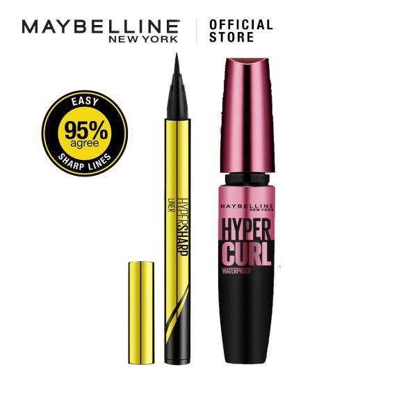 Buy [Bundle of 2] Maybelline Hypersharp Eyeliner 0.01mm Intense Intense Black & Hypercurl Mascara Singapore