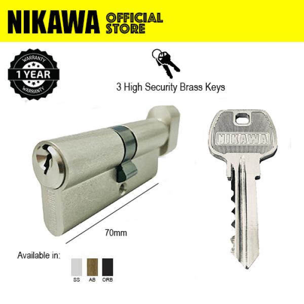 NIKAWA Euro Profile Single Turn Knob Cylinder for metal gate, wood door, glass door