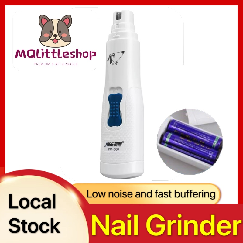 Pet Nail Grinder Aa Battery Low Noise Painless Dog Nail Trimmer Clipper Portable Powerful Gentle Paws Grooming For Dogs Cats.
