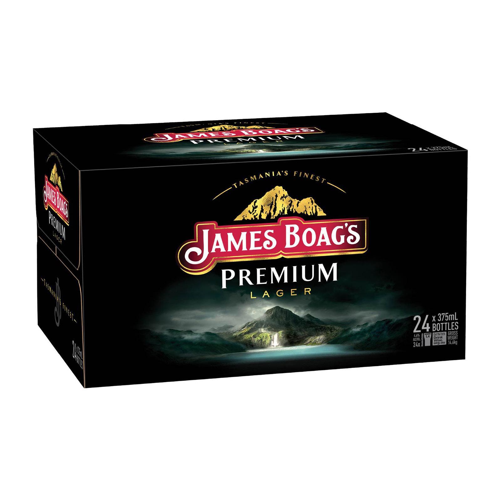 James Boag's Premium Lager 4 x 6s x 375ml Bottle