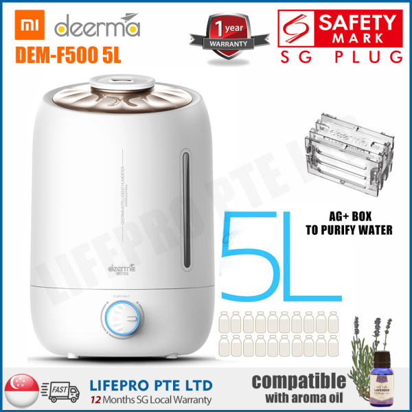 Deerma F500 F600 5L/ Humidifier With Aroma Function/ Singapore Safety Mark Plug/ English Manual/ Up to 12 Months Warranty Singapore