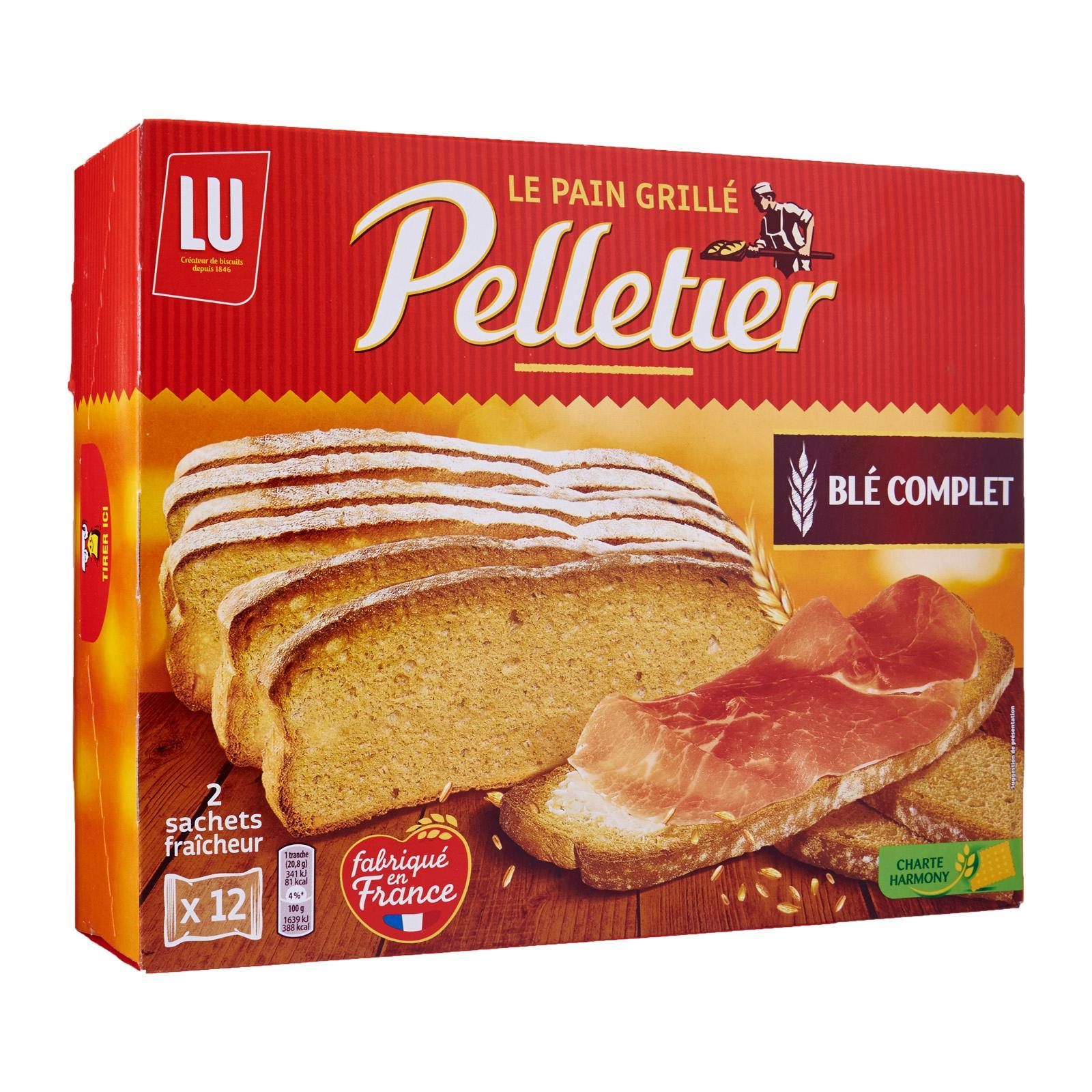 Pelletier Whole-Wheat Large Toasted French Bread Slices By Redmart.