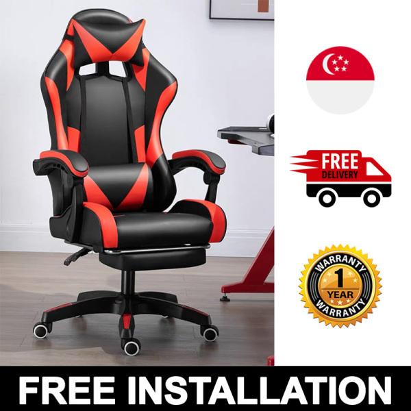 Professional Gaming Chair Adjustable Ergonomic PU Leather Office Secretlab Racing-car Secret Lab Inspired DXRACER DX RACER [FREE INSTALLATION/DELIVERY WITHIN 3 WEEKS]