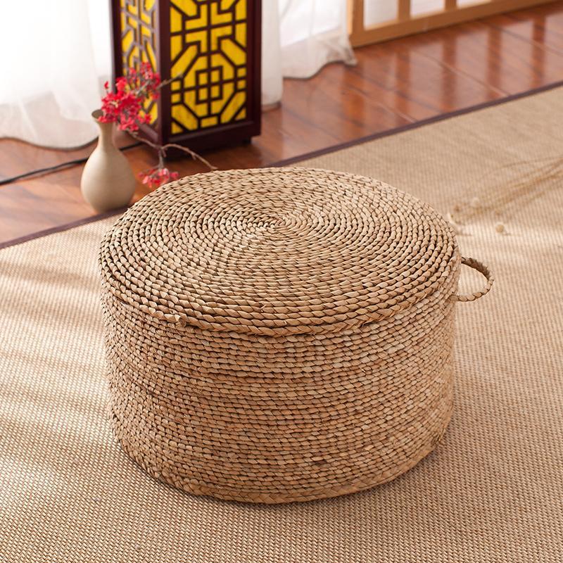 Traditional Handmade Papyrus Stool Thick Straw throw pillow Floor Tatami Tea Room throw pillow