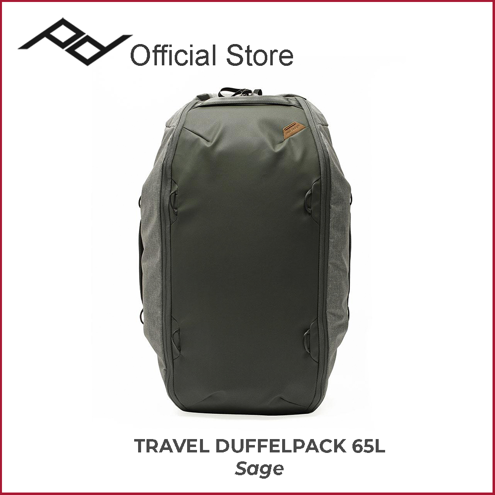 Peak Design Travel Duffel 65L (Black / Sage) - Duffle Duffelpack Bag