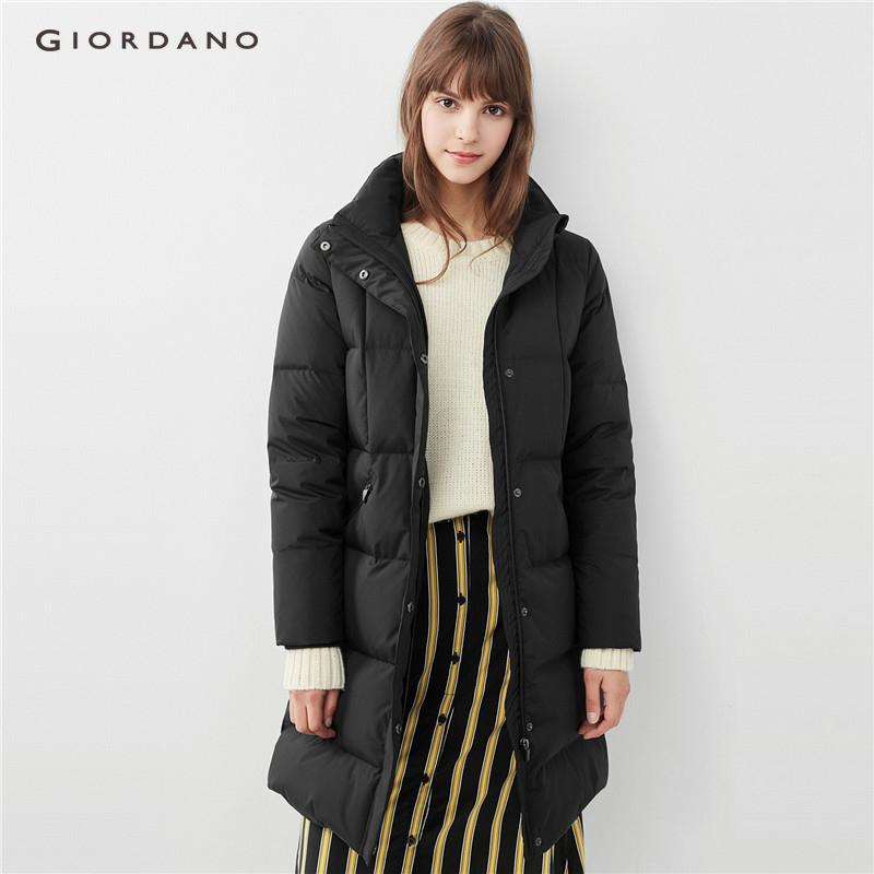 Giordano Women Washable Detachable Mid-Long Down Jacket [free Shipping] 05378706 By Giordano Official.