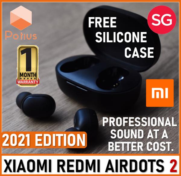 【2021 EDITION+FREE CASE】XiaoMi Redmi Airdots 2 Pro | True Wireless Earbuds Bluetooth 5.0 | Waterproof | 7.2mm Driver | Long Battery Life Singapore
