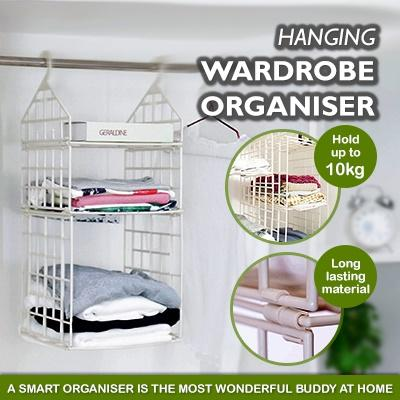Multi Layer Wardrobe Hanging Organiser / 4 types to choose / smart storage