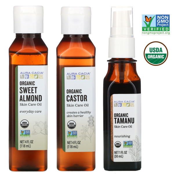 Buy Aura Cacia, Organic Skin Care Oil, Tamanu Oil/Sweet Almond Oil/Castor Oil Singapore
