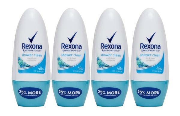 Buy REXONA (Bundle of 4) Deodorant Roll-on [Women Shower Clean 50ml] Singapore