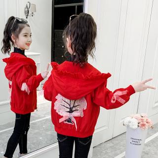 Cô Gái Áo Khoác Áo Khoác Mùa Xuân Và Mùa Thu 2020 Mới Thời Trang Phong Cách Trẻ Em Hàn Quốc Trẻ Em Đội Mũ Trùm Đầu Áo Khoác Mùa Thu Thủy Triều thumbnail