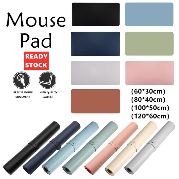 [SG Ready Stock] Premium Leather Desk Mouse Pad Large Mousepad Large Double Sided Office Desk Mat Mouse Mat Gaming