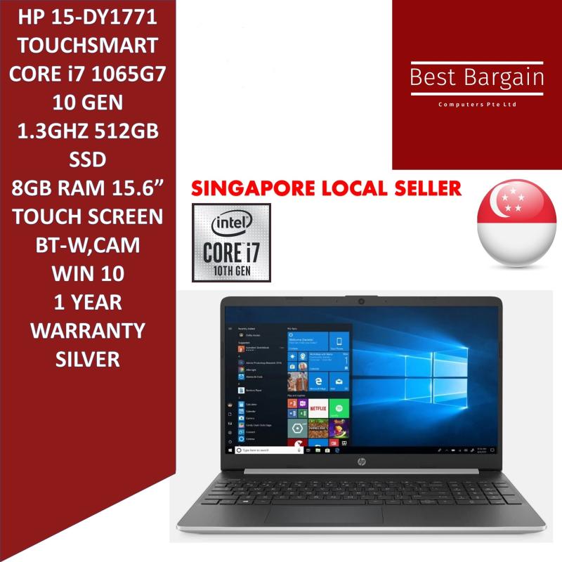 HP 15-DY1771 TOUCHSMART 10 GEN Core™ i7-1065G7 1.3GHz, 512GB SSD 8GB 15.6  TOUCHSCREEN BT, WIN10 Webcam NATURAL SILVER