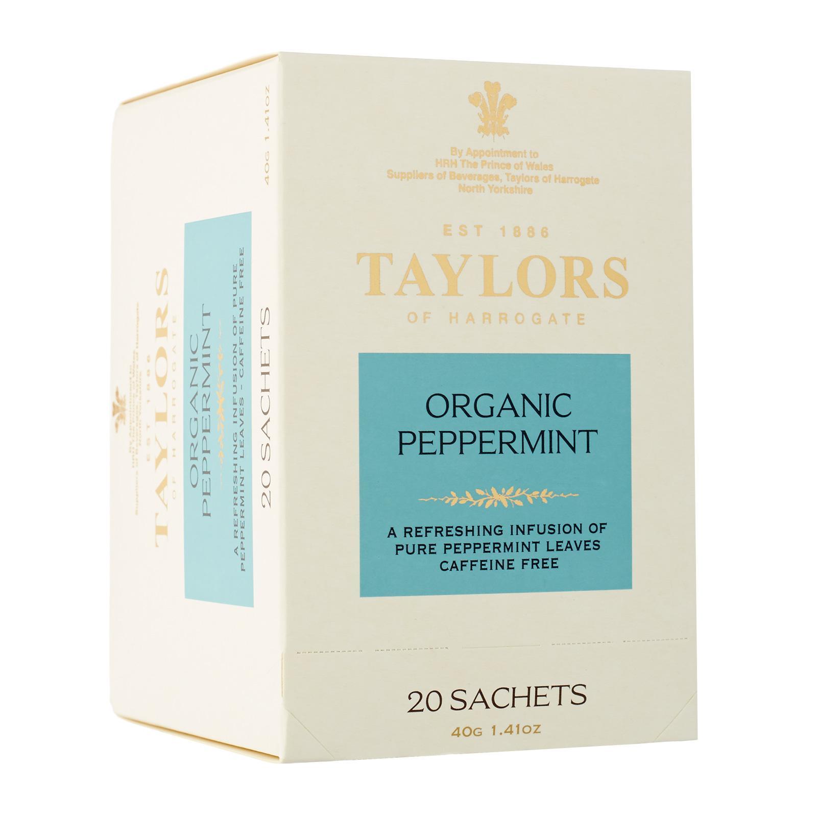 Taylors Of Harrogate Organic Peppermint Tea 20s By Redmart.