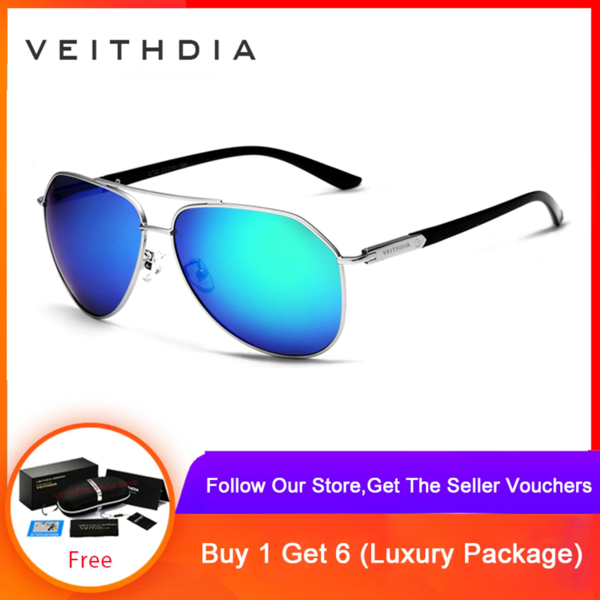 a9d7900a4f8f VEITHDIA Fashion Unisex Sunglasses Polarized Color Coating Mirror glasses  Eyewear For Men/Women 2732