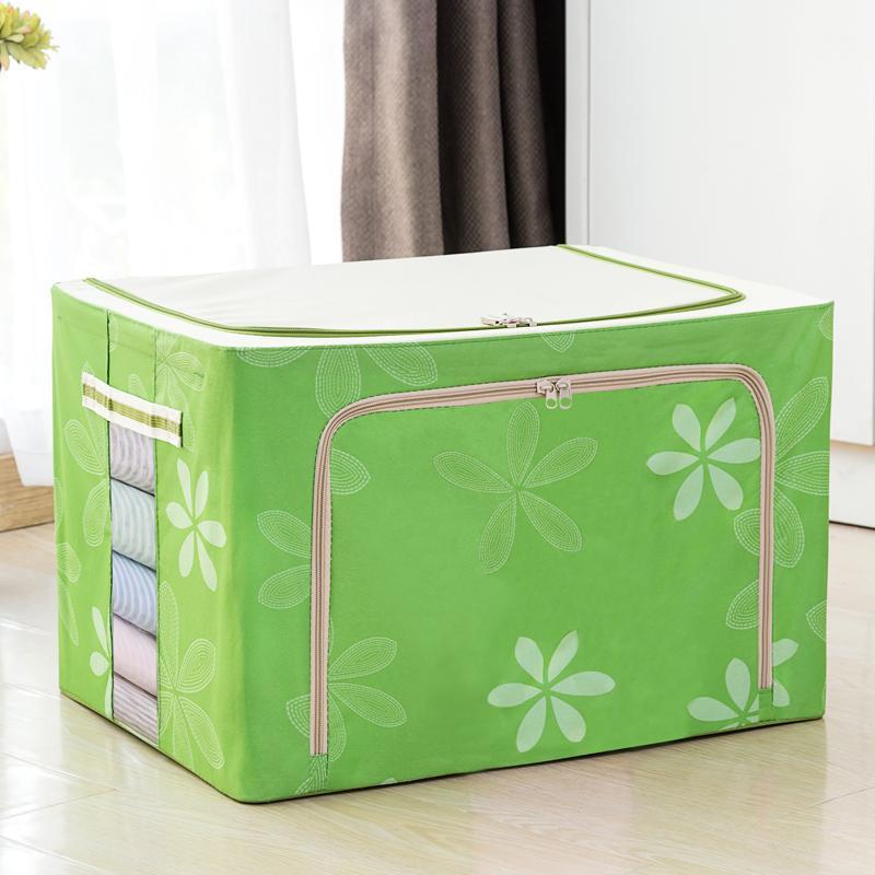 Extra Large Steel Frame 72 L Storage Box Clothing Blanket Finishing Box Storage Box Oxford Cloth Canvas Dormitory Useful Product