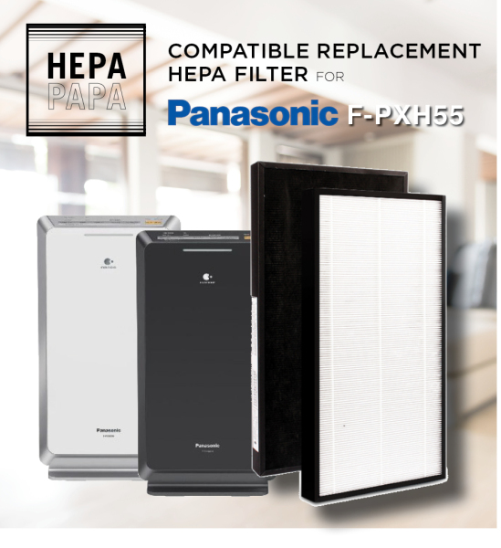 Compatible Filter for Panasonic F-PXH55A / F-VXH50  - HEPA Filter [Free Alcohol Swab] [SG Seller] [7 Days Warranty] Singapore