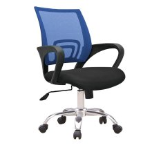 Top Rated C12 Ergonomic Officer Chair With Metal Base Blue