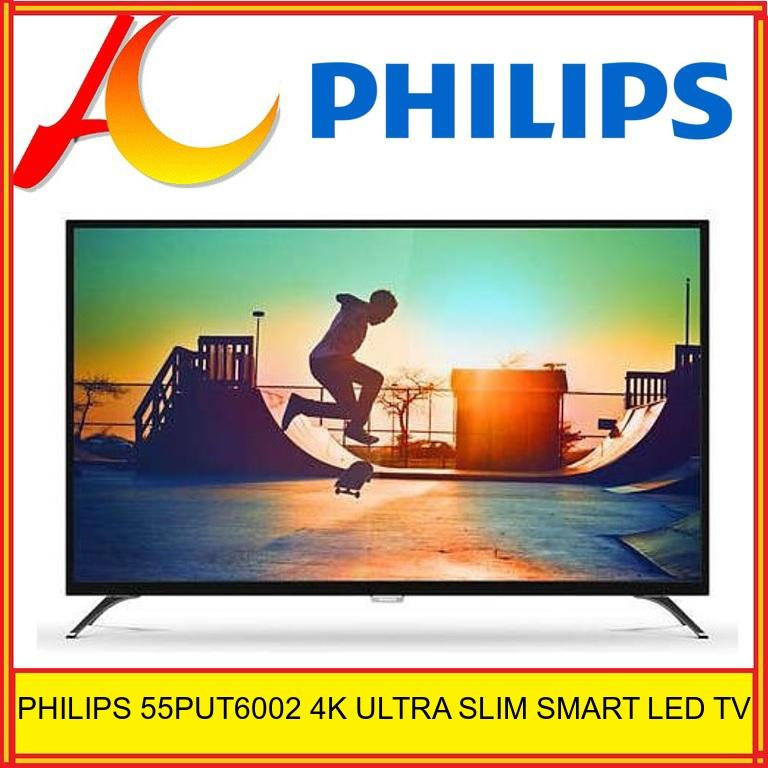 Philips 55PUT6002 4K Ultra HD Slim Smart LED TV (55PUT6002)