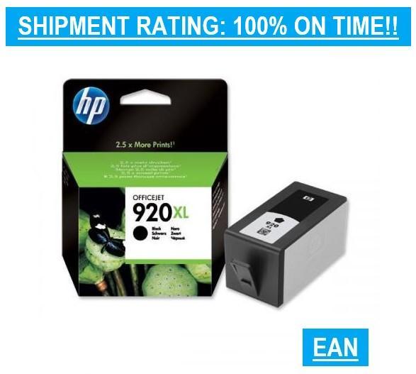 HP 920XL / HP920XL / HP 920 XL / 920 / HP / HIGH YIELD / BLACK FOR HP  Officejet 7500A / HP Officejet 7000 Wide Format Printer / HP Officejet 6000