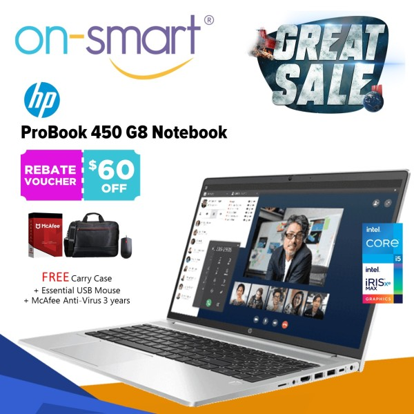 【Next Day Delivery】HP Probook 450 G8 Notebook   Intel Core I5-1135G7   16 Gb Ram   512 Ssd   Intel Iris Xe Graphics   Windows 10 Pro 64   3 Years Warranty   31P48PA   New Laptop Computer