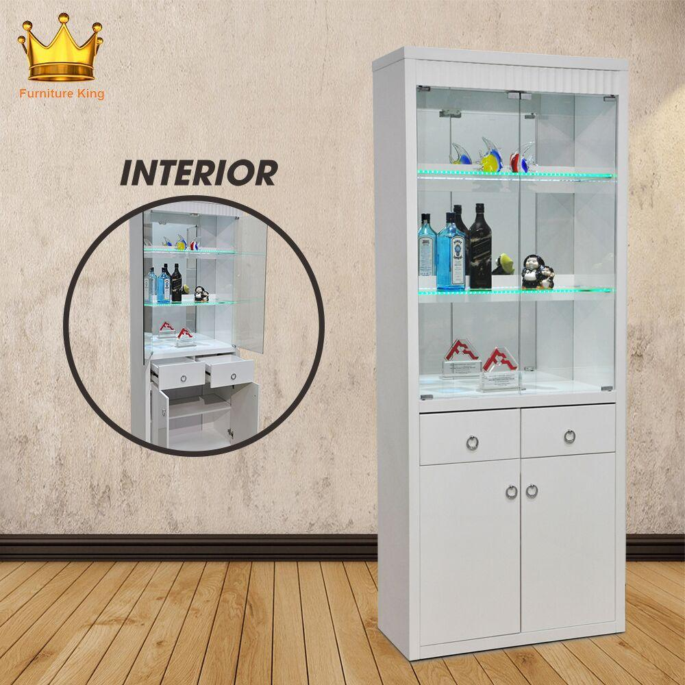 Andrew Display Cabinet / Decoration Cabinet / Glass Cabinet/ Wine Cabinet/ Glass shelving