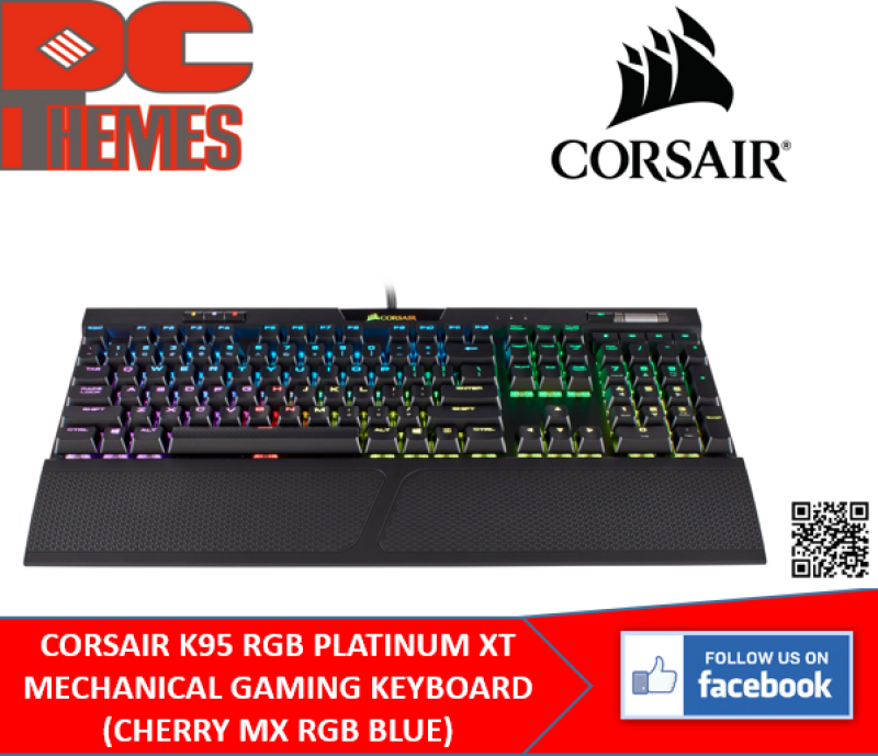 CORSAIR K95 RGB PLATINUM XT MECHANICAL GAMING KEYBOARD (BROWN / BLUE / SPEED) Singapore