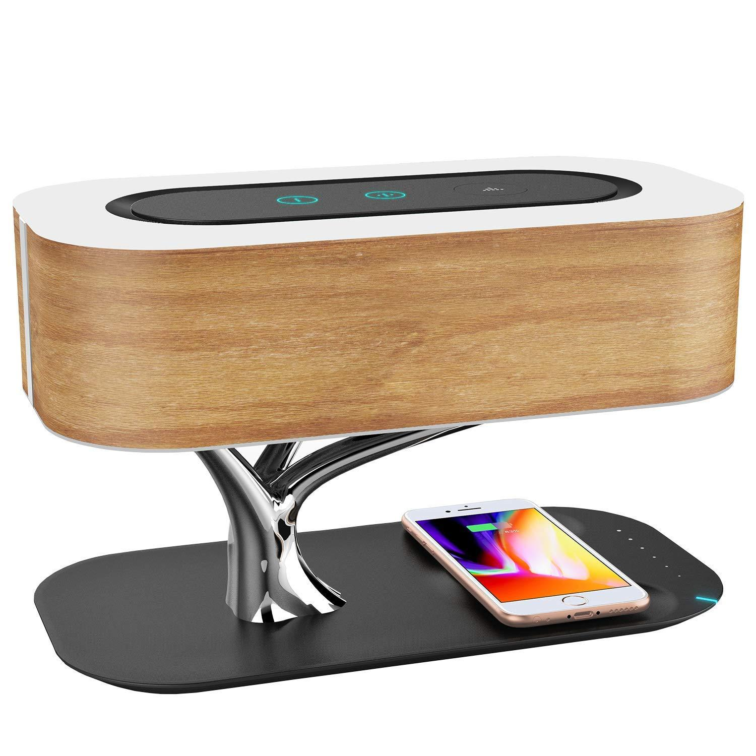 Ampulla Bedside Lamp with Bluetooth Speaker, Sleep Mode Stepless Dimming