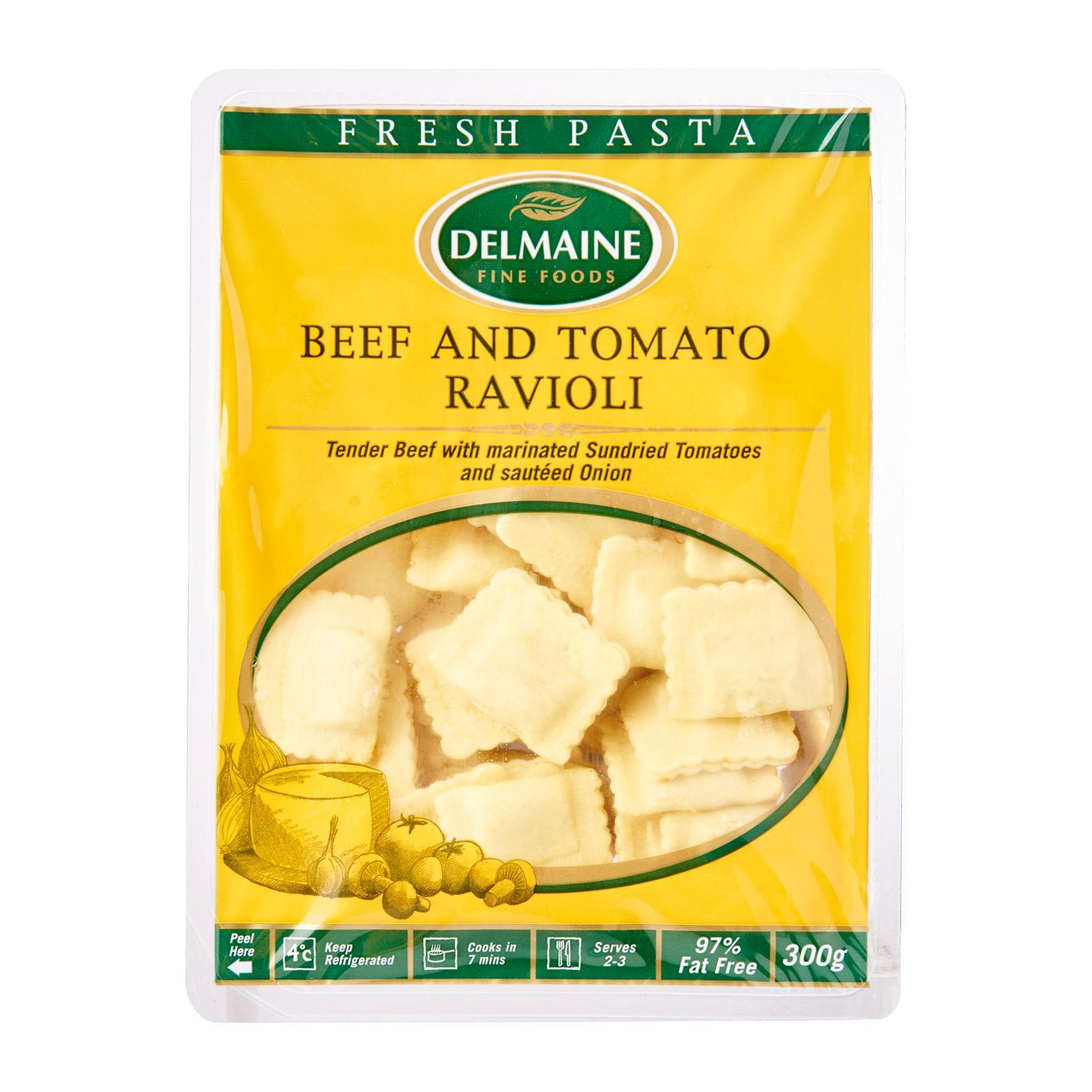 Delmaine Beef And Tomato Ravioli Filled Pasta By Redmart.