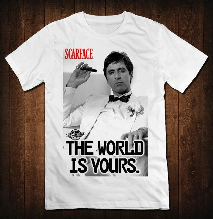 0405e29a9 New Arrival Scarface World Is Yours the T-shirt Men's Al Pacino Tony  Montana 100