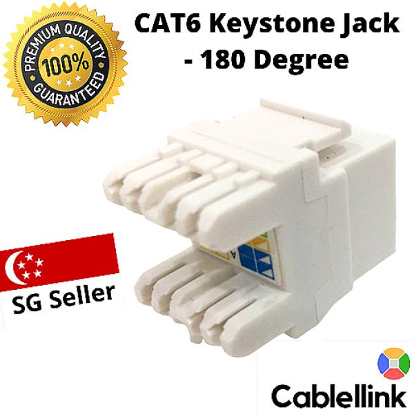 CAT6 Keystone Jack - 180 Degree ( Premium )