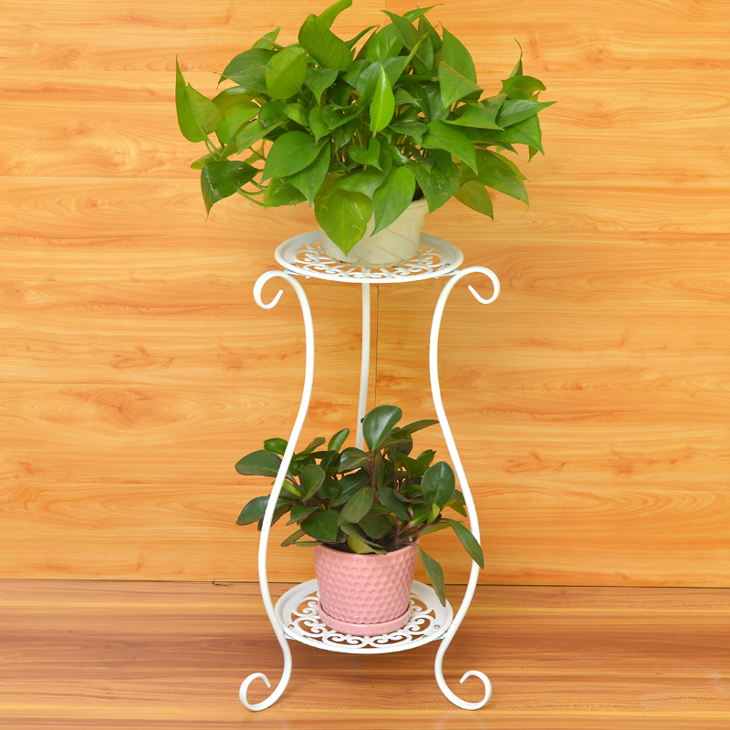 European Style Iron Art Multilayer Pergola Epipremnum Aureum Chlorophytum Terrace/Patio Flower Rack Ground Living Room Snnei Landing Pot Holder
