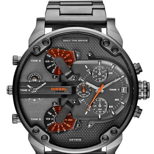 bc79ba8d7 The Daddies Chronograph Four Time Zone Dial Gunmetal Ion-plated Watch Case  Size 66mm Thickness