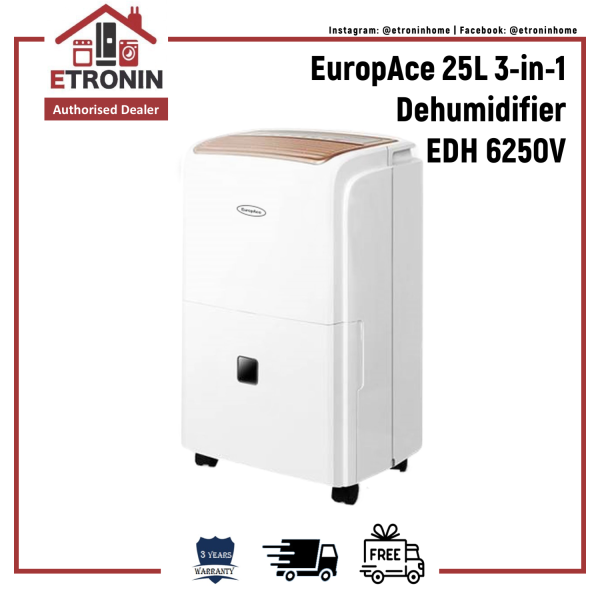 EuropAce 25L 3-in-1 Dehumidifier EDH 6250V Singapore