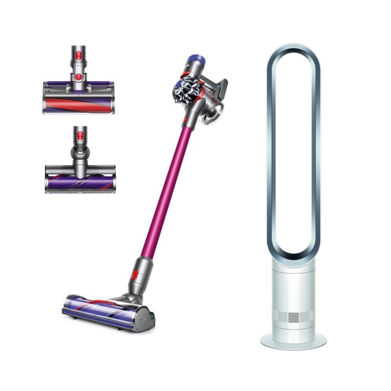 SPECIAL DEAL Dyson V8™ Absolute Pro Cord-Free Vacuum Cleaner WITH Dyson AM07 Tower Fan White/Silver Singapore