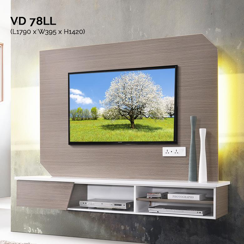 VD78LL 6FT Feature Wall TV Cabinet Warehouse56