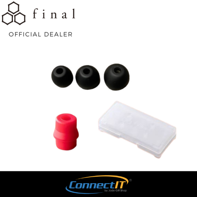 Final Audio Type E Premium Silicone Replacement Eartips with Case and Adapter (3 Pair Same Size) Singapore