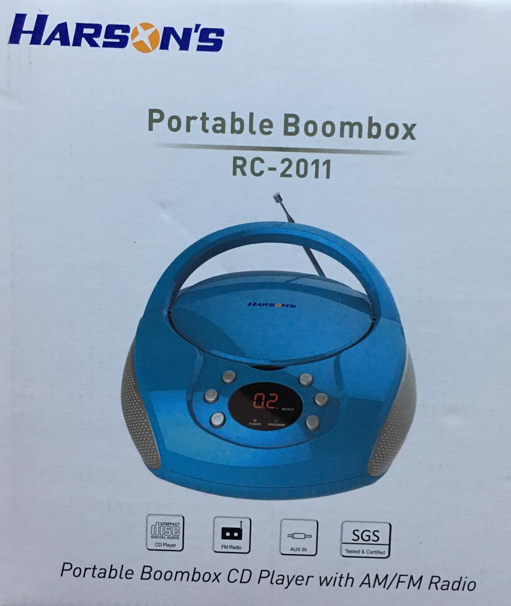 Harsons Boombox Rc 2011 Cd / Fm/am Player 1 Year Local Warranty By Silla Electronics Kingdom.
