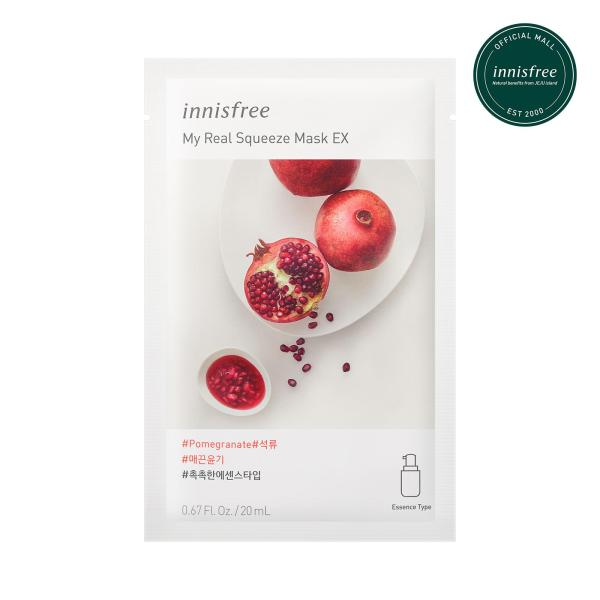 Buy innisfree My Real Squeeze Mask Pomegranate EX 20ml x 12pcs Singapore