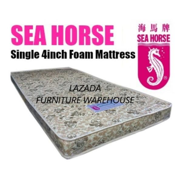 (Pre-Order : 13/8/2020 Onwards) Sea Horse Single 4 inch Foam Mattress