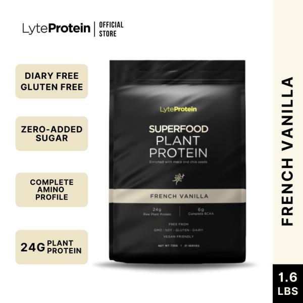 Buy LyteProtein - Vegan Protein Powder French Vanilla 735g (21 Serve) - Plant Based Protein Powder | Keto Friendly Protein, Dairy Free, Gluten Free Singapore