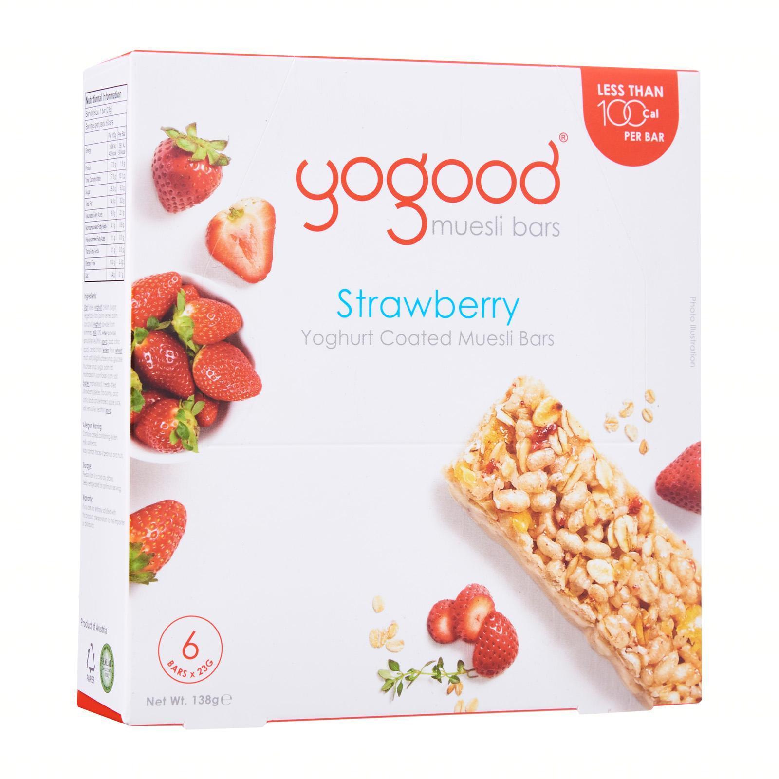 YOGOOD Muesli Bar Yoghurt Coated - Strawberry 23gX6s