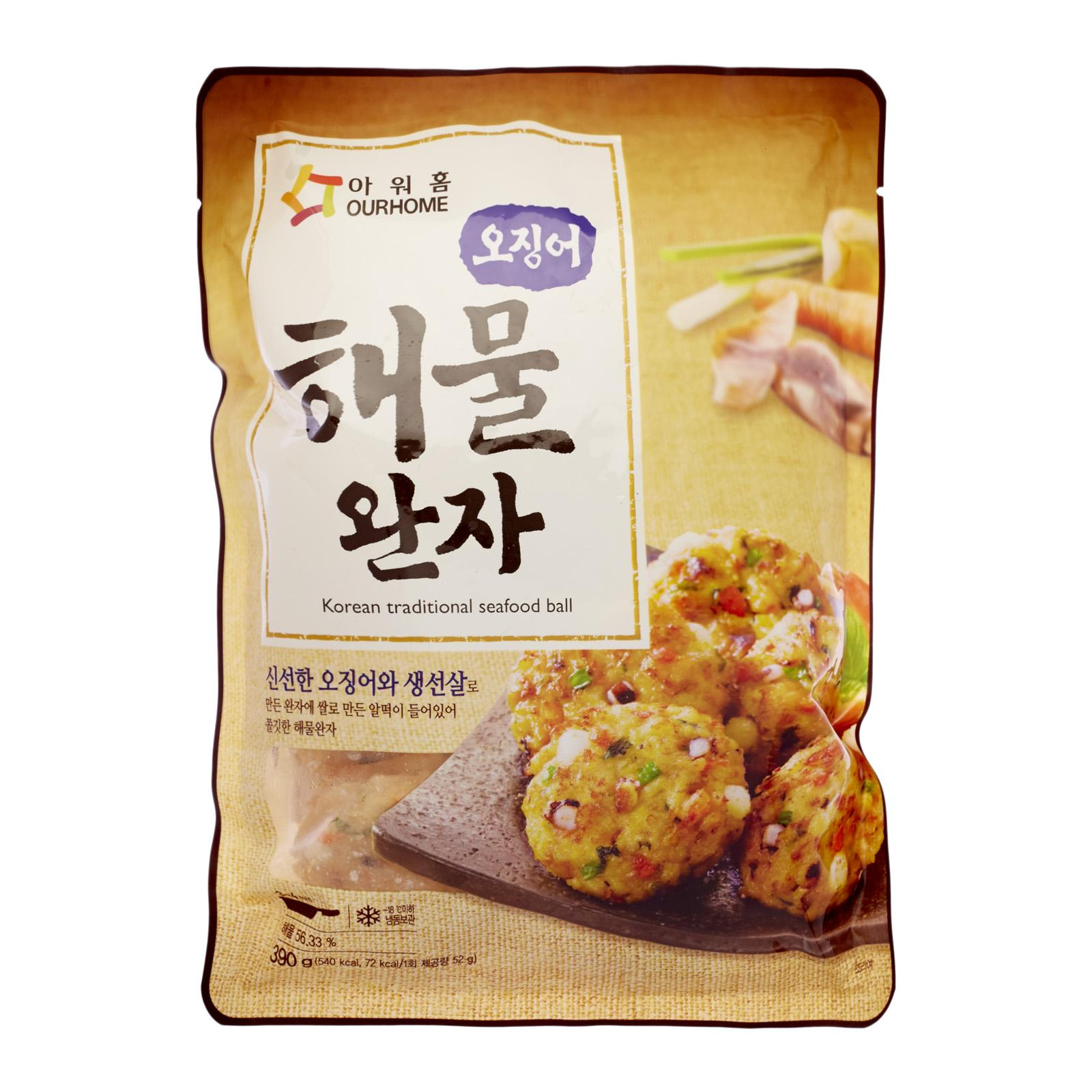 Ourhome Korea Traditional Seafood Ball - Frozen By Redmart.