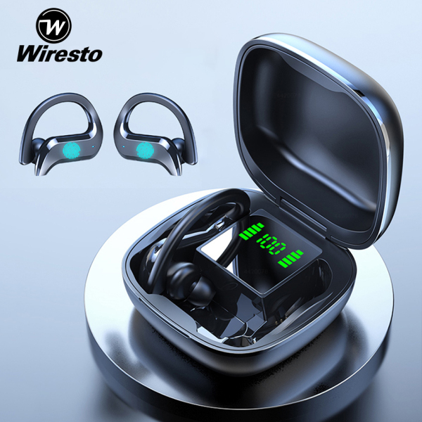 Wiresto True Wireless Earbuds Mini Bluetooth Earphone Stereo Headphone Bluetooth 5.0 Sport Earpiece Binaural Call Earbuds Ear Hook Small Invisible Headset with Microphone Charging Case Singapore