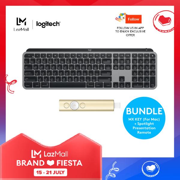 Logitech MX Keys for Mac - Wireless Illuminated Keyboard + Logitech Spotlight Wireless Advance Presentation Remote Singapore